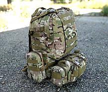 Тактический рюкзак с подсумками, рюкзак штурмовой военный на 50 литров Мультикам (1010-kms-multic), фото 3