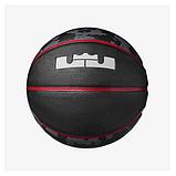 М'яч баскетбольний Nike LEBRON PLAYGROUND 4P BLACK/UNIVERSITY RED/UNIVERSITY RED/WHITE size 7 (N. 000.2784.931.07), фото 2