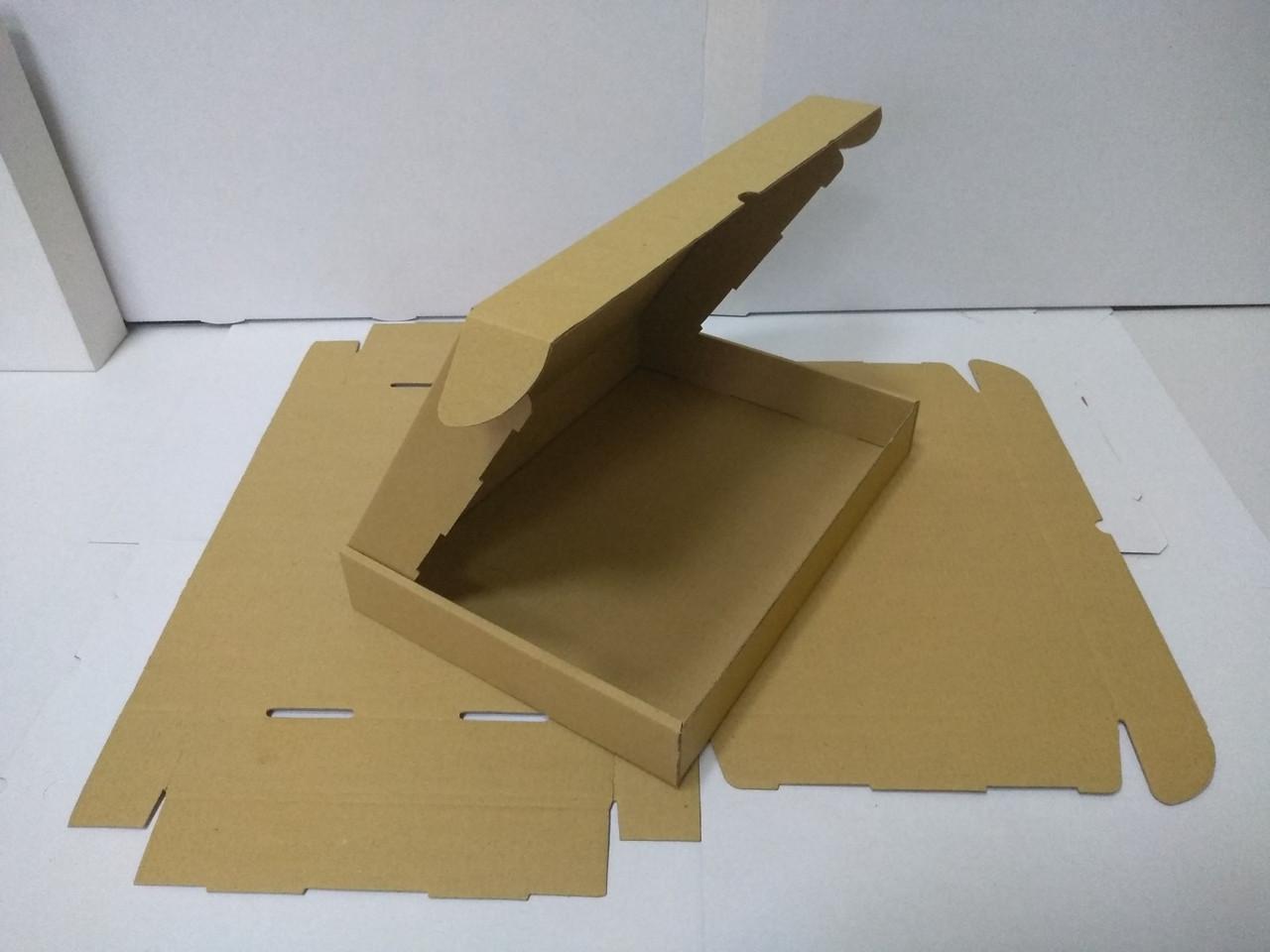 Коробка картонная 34х24х5 (см) 1 кг бурая. Коробки для почты 340 х 240 х 50 мм.