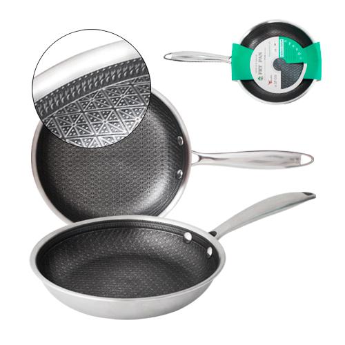 Сковорода с антипригарным PFLUON покрытием с защитной насечкой 28 см 9090-28