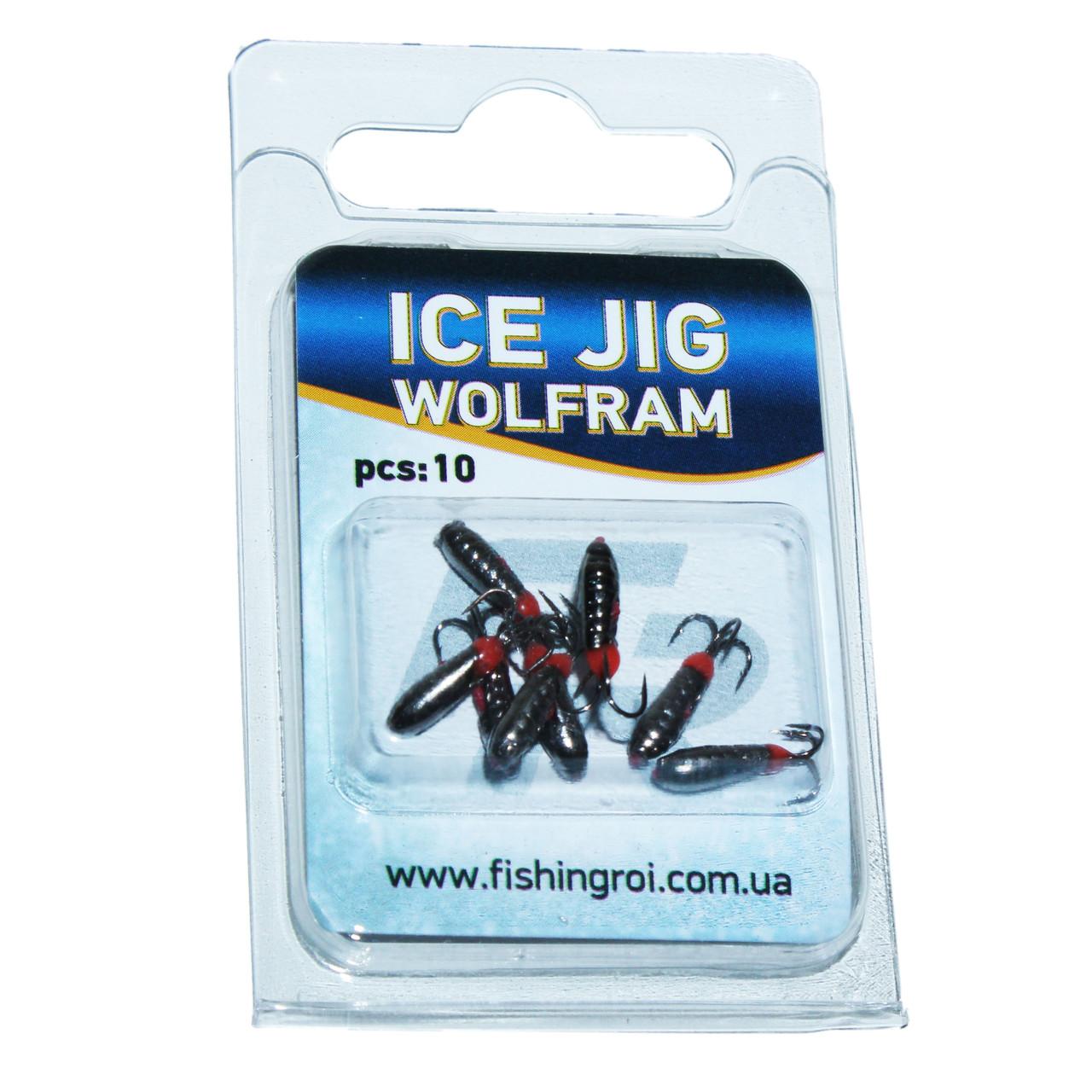 Мормышка вольфрамовая чортик Fishing ROI Ice Jig 0.55 г., 2.9 мм.