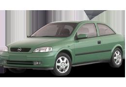Дефлектор на капот (Мухобойки) для Opel (Опель) Astra G 1998-2004