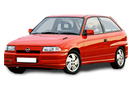 Дефлекторы на боковые стекла (Ветровики) для Opel (Опель) Astra F 1991-1998
