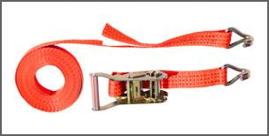 Стяжний ремінь з кінцевиком і натяжним пристроєм (храповим замком) 10м (5Т)