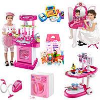 Сюжетно ролевые игры для девочек ( Кухни, Кассы, наборы Доктора, Трюмо, домики для кукол)