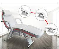 Косметологічне крісло кушетка механічна косметологічна для салону краси 202 Біла