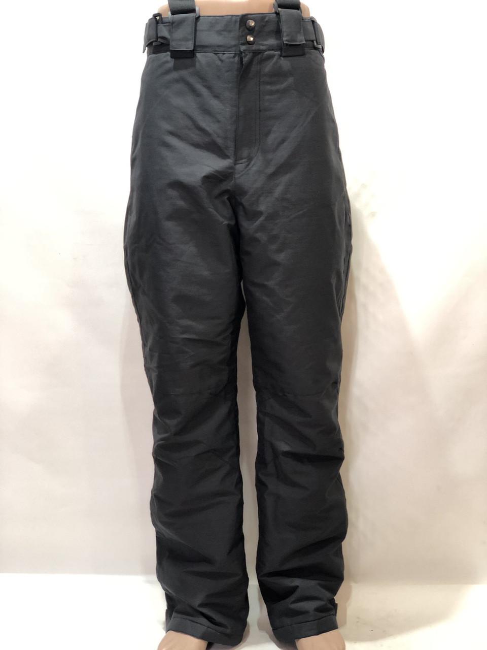 Ххл р. Чоловічі штани теплі гірськолижні останні залишилися з підтяжками сірі