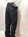 Ххл р. Чоловічі штани теплі гірськолижні останні залишилися з підтяжками сірі, фото 4