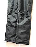 Ххл р. Чоловічі штани теплі гірськолижні останні залишилися з підтяжками сірі, фото 3