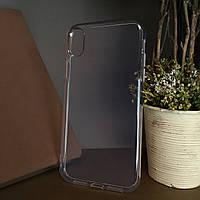 Чехол бампер силиконовый прозрачный для Iphone Xr . Силиконовый чехол накладка на айфон Xr