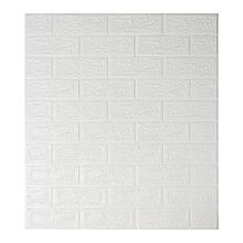 Декоративная 3D панель самоклейка под кирпич Белый 700х770х5мм