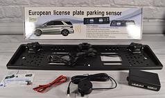 Автокамера рамка для номера с парктроником HLV 5429