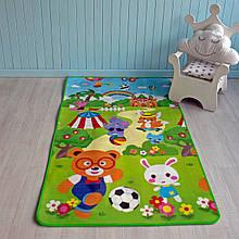 """Термо дитячий розвиваючий килимок """"Футбол + Акваріум"""""""