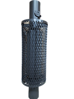 Труба- конвектор сетка  с шибером ф115 L 1 м Ферингер, фото 1