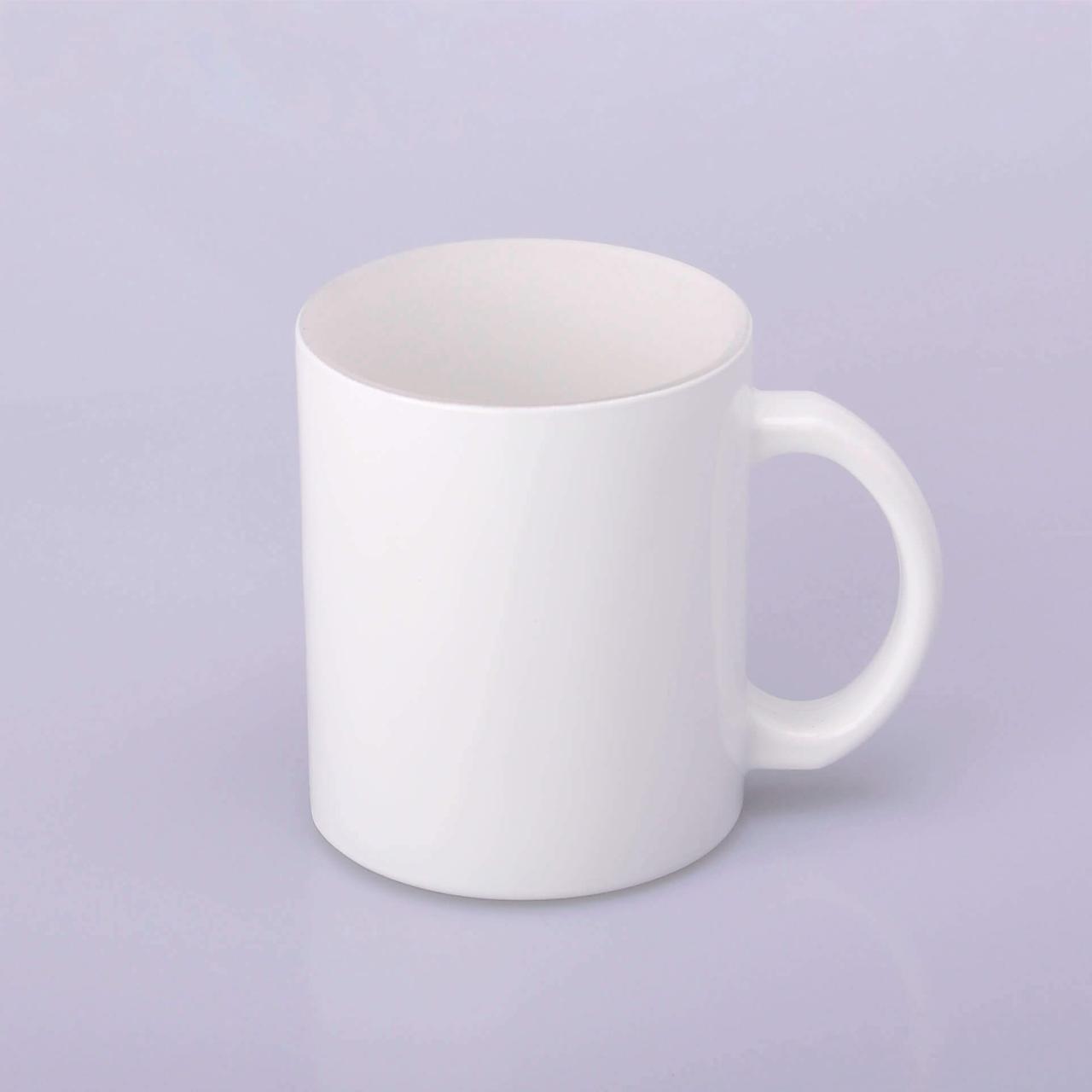 Чашка для сублимации стекло (белая) 330 мл