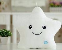 Белая Звезда Подушка Светящая
