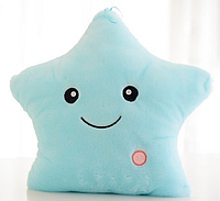 Голубая Звезда Подушка Светящая