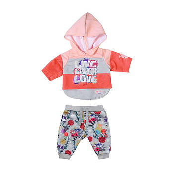Набір одягу для ляльки Baby Born - Трендовий спортивний костюм (рожевий) 826980-1