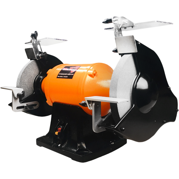 Точило з системою пиловидалення Workman CH250 електроточило, промисловий точильний верстат, наждак