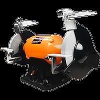 Точило з системою пиловидалення Workman CH250 електроточило, промисловий точильний верстат, наждак, фото 1