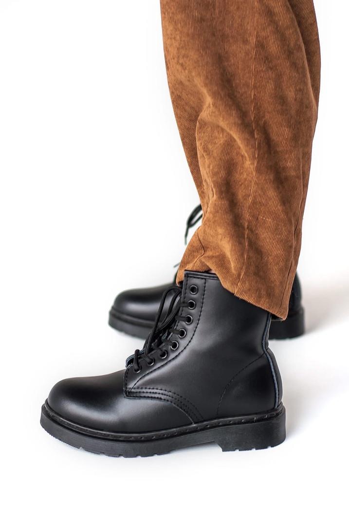 """Женские ботинки в стиле Dr.Martens mono """"Black"""""""