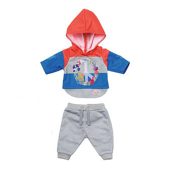 Набір одягу для ляльки Baby Born - Трендовий спортивний костюм (синій) 826980-2