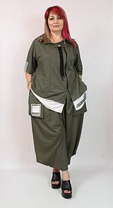 Турецкий женский прогулочный костюм больших размеров 54-68