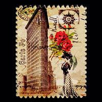 Магнит Flatiron Building (Флэтайрон-билдинг), из серии в память о поездке в США, керамика.