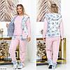 Домашний уютный набор 4 ка. Пижама с теплым жилетом плюс домашние сапожки., фото 3