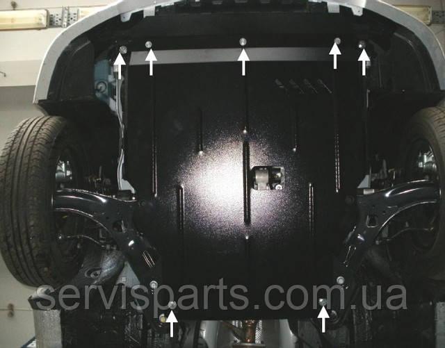 Захист двигуна на Kia Rio 2011- (Кіа Ріо)