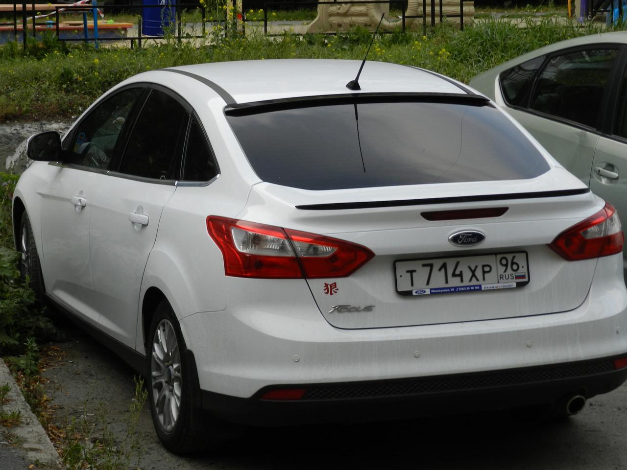 Лип спойлер(Сабля) на Ford Fiesta VI (2012-2017)