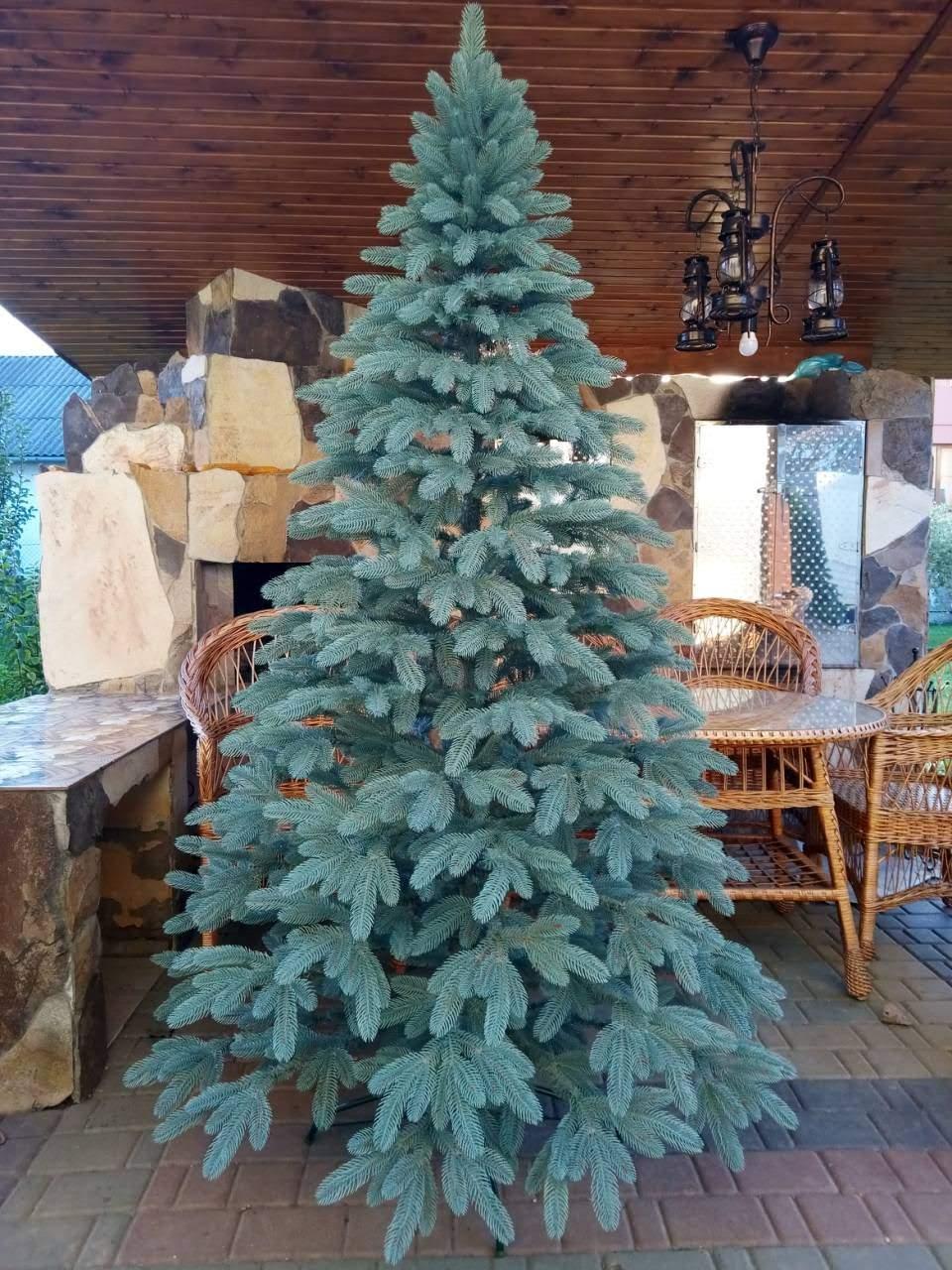 Литая елка Премиум 2.50м. голубая /  Лита ялинка / Ель