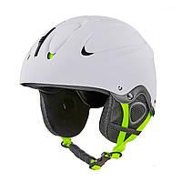 Шлем горнолыжный для сноубордиста с механизмом регулировки взрослый белый MOON (СПО MS-6288) S