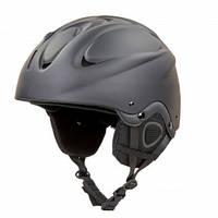 Шлем горнолыжный для сноубордиста с механизмом регулировки взрослый черный MOON (СПО MS-6288) S