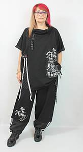 Турецкий женский прогулочный костюм больших размеров 58-72