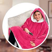 Толстовка-плед з капюшоном Huggle Hoodie Рожевий