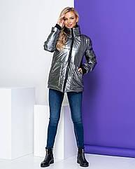 Куртка жіноча зимова NOBILITAS 42 - 48 срібло плащівка (арт. 20051)