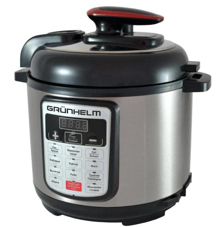 Мультиварка Grunhelm MPC - 15 B (объём 4 л, 11 программ приготовления пищи, 2 года гарантии)
