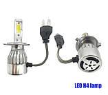 Комплект LED ламп H4 ближний и дальний свет HeadLight. Активный кулер. 6000К. 4500lm, фото 2
