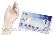 Латексные перчатки опудренние  (50 пар) (L) VOGT MEDICAL