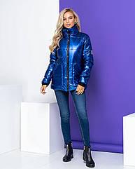 Куртка жіноча зимова NOBILITAS 42 - 48 електрик плащівка (арт. 20051)