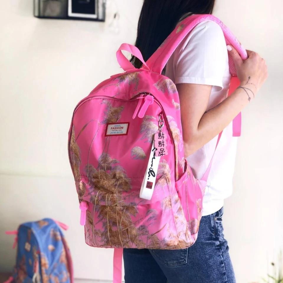 Шкільний рюкзак з пампасной травою