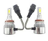 Комплект лэд ламп H8\H9\H11. LED лампы в противотуманки, в доп фары. Активный кулер. \ 6000K \ 4500 Lm \, фото 3