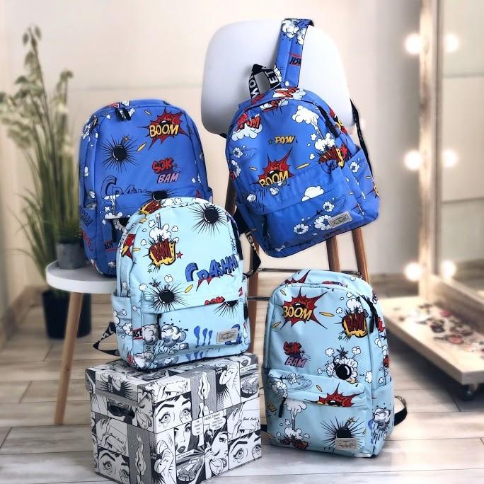 Рюкзак для школяра з яскравим принтом