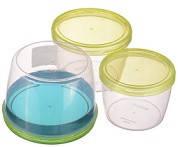 Набор емкостей (судков) 3в1 пищевых 0,6; 0,88; 1,18л пластиковых с крышкой твист Twist Box