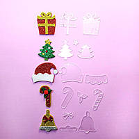 "Шаблоны для бантиков. Набор ""Новогодний 1"" 79, фото 1"