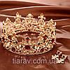 Корона и серьги набор АЗАРИКА круглая корона на голову красно - зеленые камни Украшения для волос, фото 9