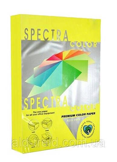 Бумага цветная SPECTRA COLOR А4 155 г/м2 IT363 неон желтый