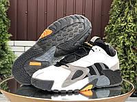 Кроссовки мужские зимние Adidas Streetball белые, АдиДас, натуральная кожа, мех 100%, прошиты. Код SD-9993