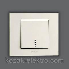 GRANO Выключатель 1 клавишный с подсветкой цвет белый
